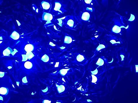 Штора-гірлянда матова Лінза D 300 LED 3 на 2 м. кольорова