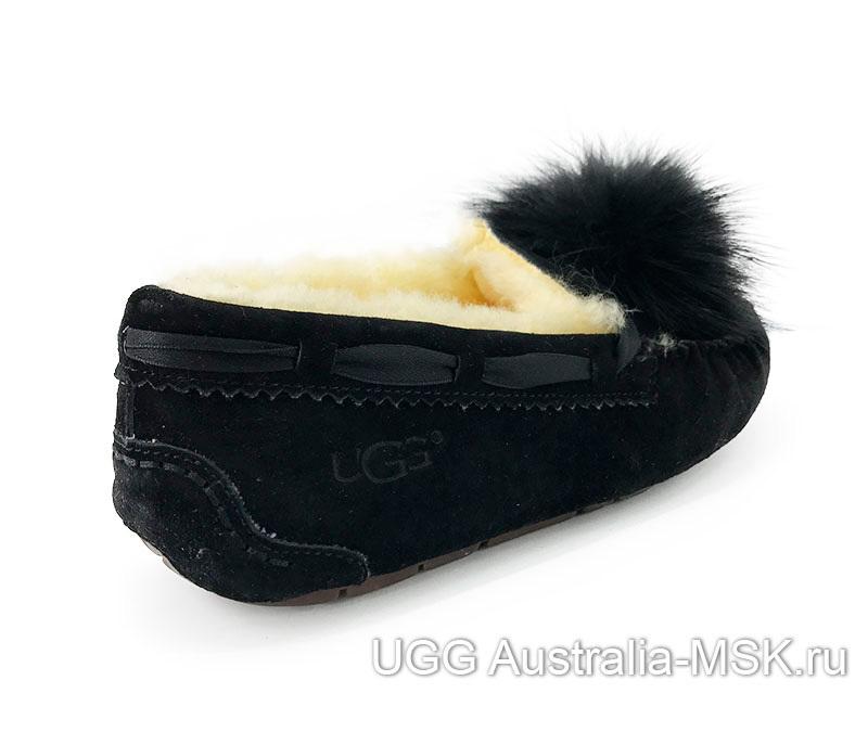 UGG Moccasins  Pom Pom Black