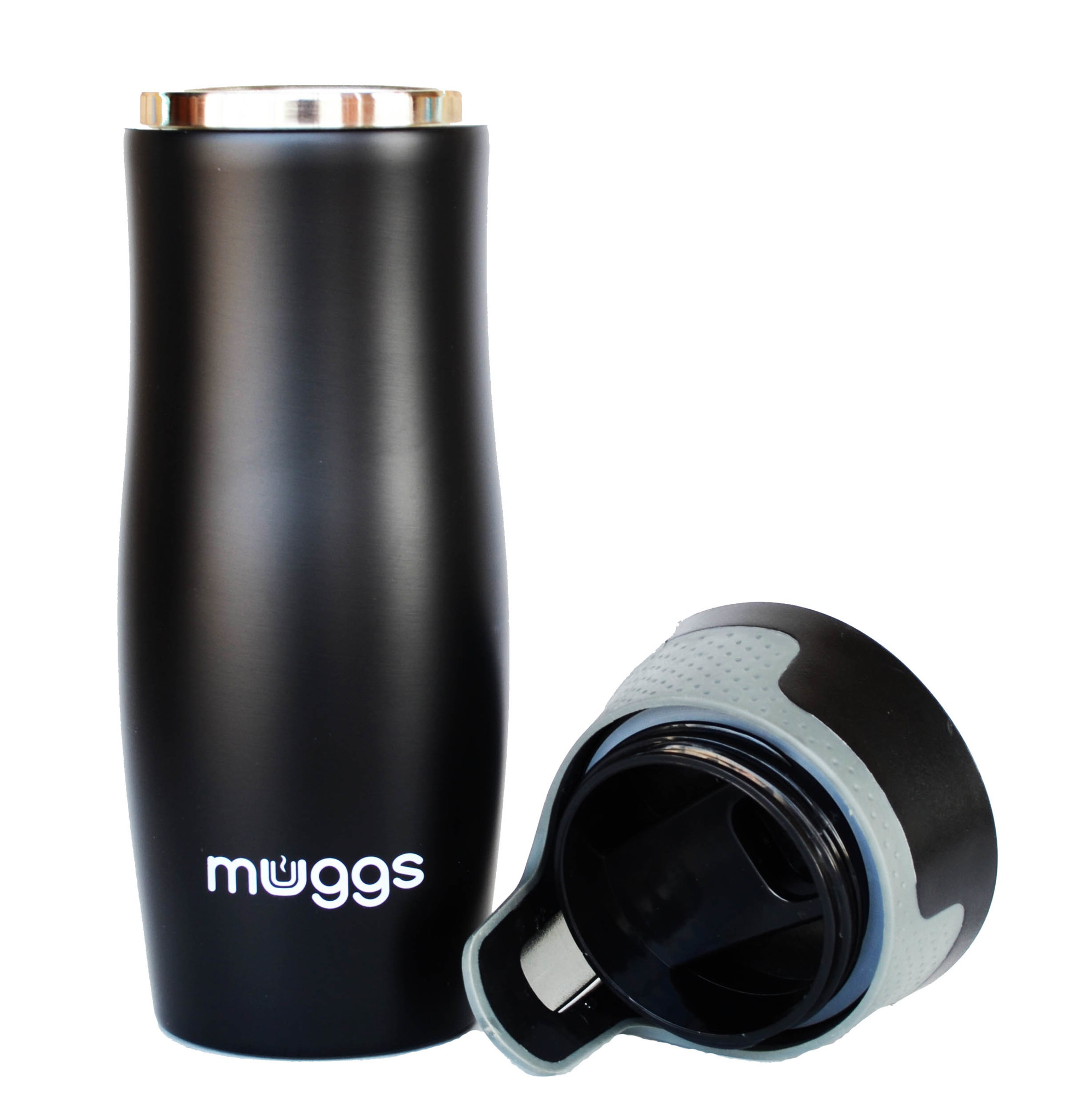 Термокружка Muggs Button 450 мл. черная