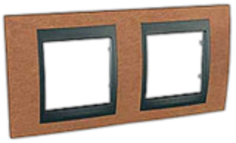 Рамка на 2 поста. Цвет Вишня-графит. Schneider electric Unica Top. MGU66.004.2M2