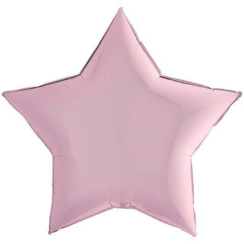 Воздушный шар звезда большая, Розовый, 91 см