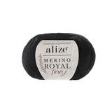 Alize Merino Royal Fine черный 60