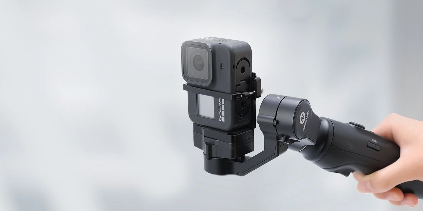 Стабилизатор трехосевой Feiyu Vimble 2A с камерой в вертикальном положении
