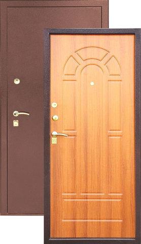 Дверь входная Z-4 стальная, миланский орех, 2 замка, фабрика Арсенал
