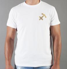 Футболка с принтом Знаки Зодиака, Стрелец (Гороскоп, horoscope) белая 0065