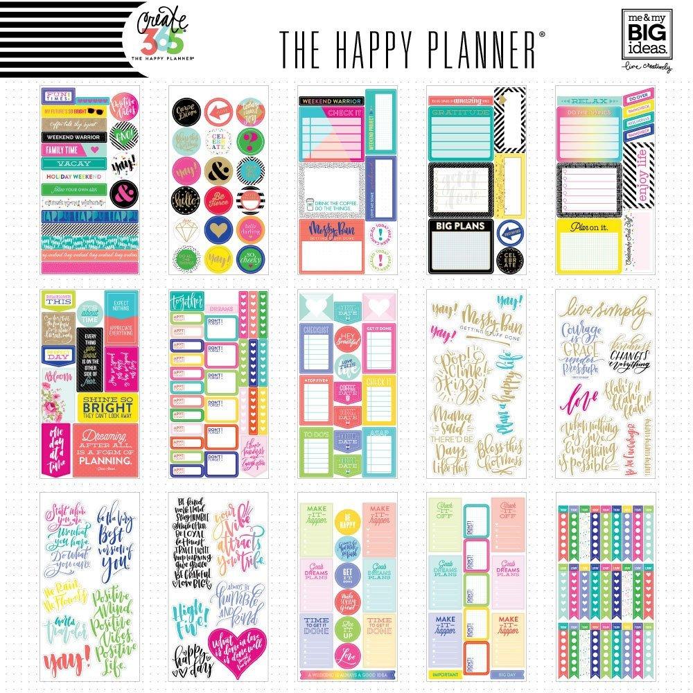 Блокнот со стикерами для ежедневника Create 365 Happy Planner Sticker Value Pack- Quotes.  427 шт