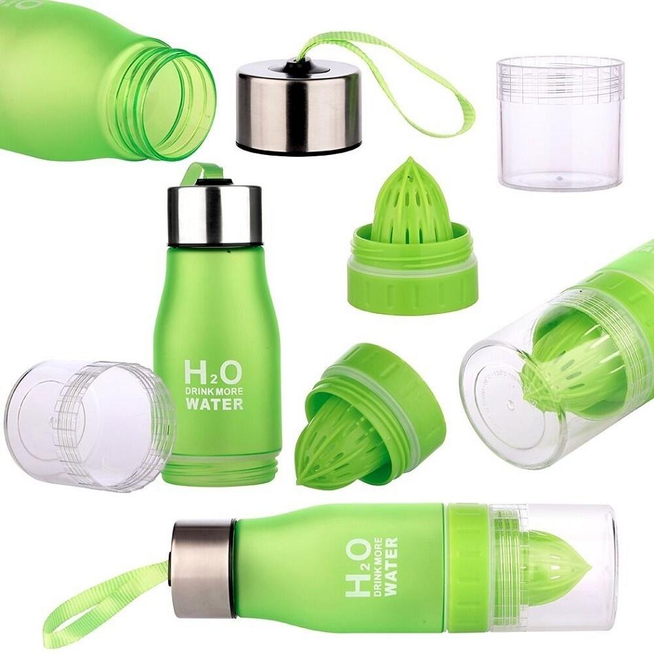 Бутылка для воды спортивная с соковыжималкой