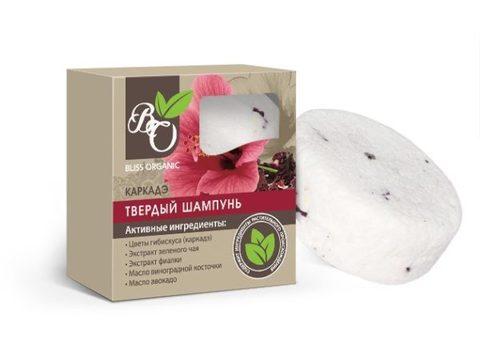 Натуральный твердый шампунь «Каркадэ», Bliss organic 65 гр