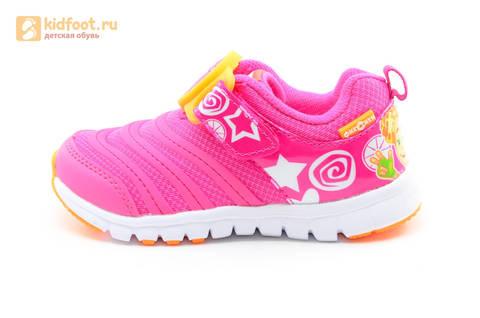 Светящиеся кроссовки для девочек Фиксики на липучках, цвет фуксия, мигает пряжка на липучке. Изображение 3 из 16.