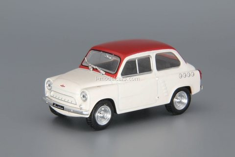 Moskvich-444 1957-1959 white-red 1:43 DeAgostini Auto Legends USSR #235