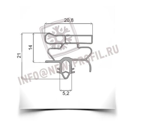 Уплотнитель для холодильника Индезит DF4180W х.к. 960*570 мм по пазу(010 АНАЛОГ)