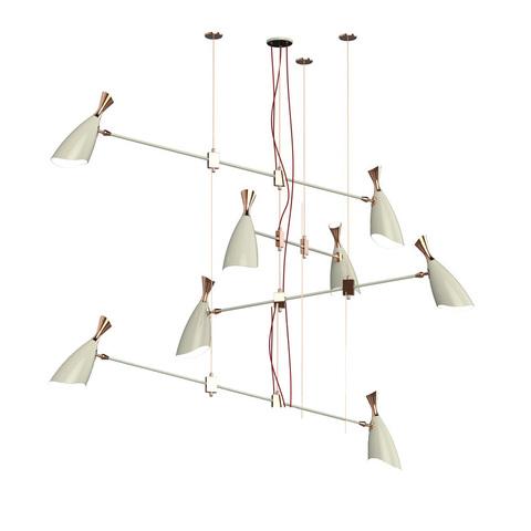 Подвесной светильник копия Duke by Delightfull (8 плафонов, белый)