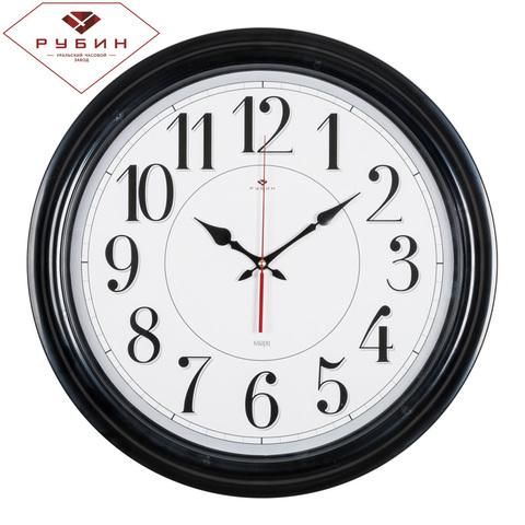 4840-001 (5) Часы настенные круглые d=48 см, корпус черный