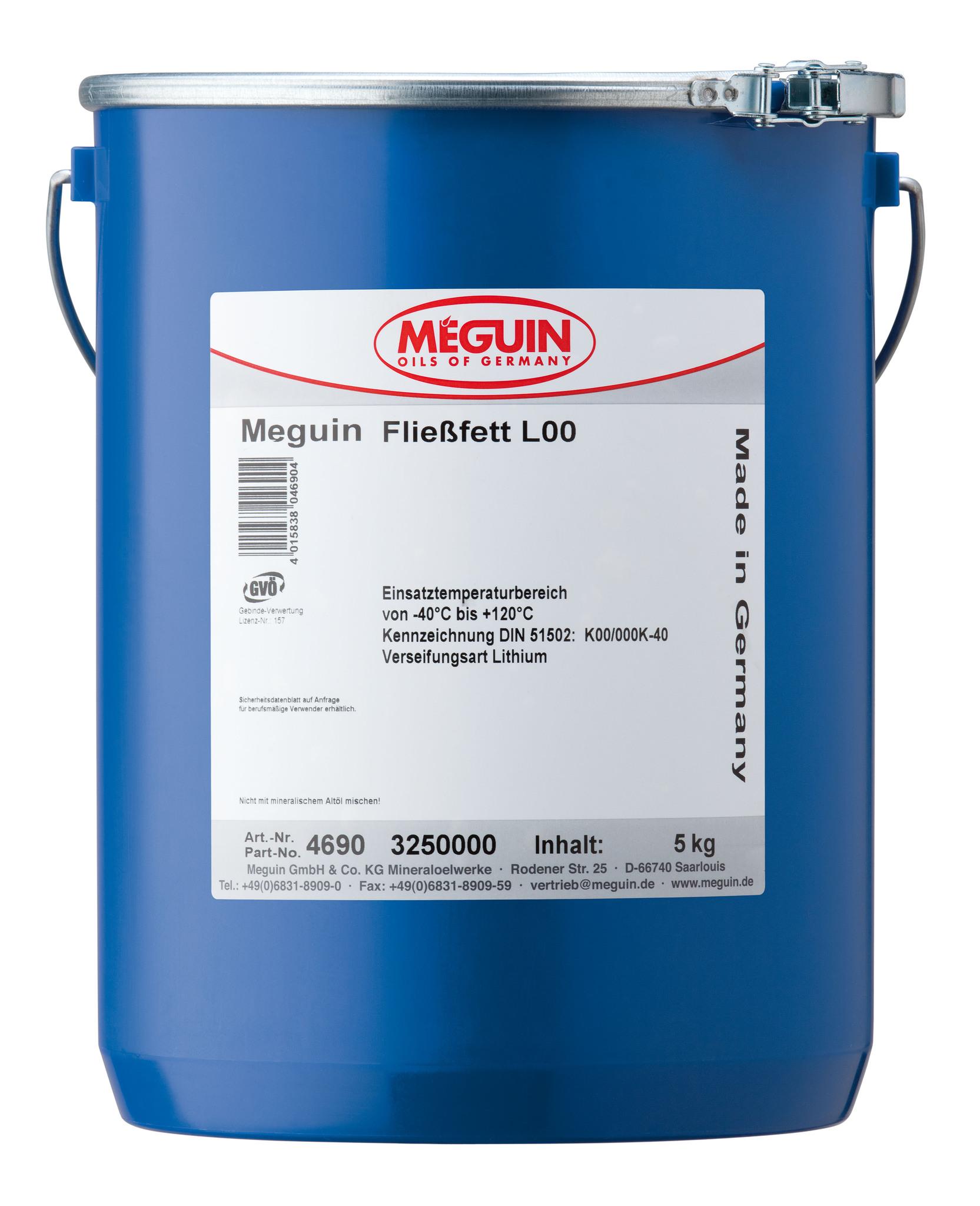 Meguin Fließfett L00 - Минеральное жидкая смазка для централизованных систем
