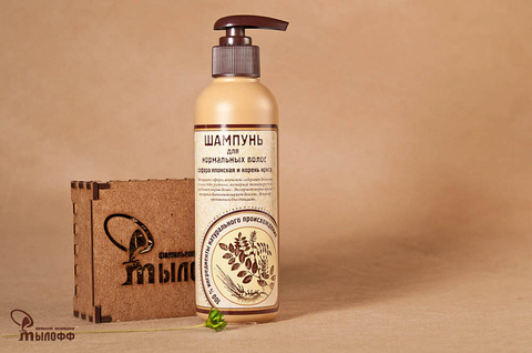 Шампунь для нормальных волос Софора японская и корень ириса 250 мл ТМ Мылофф