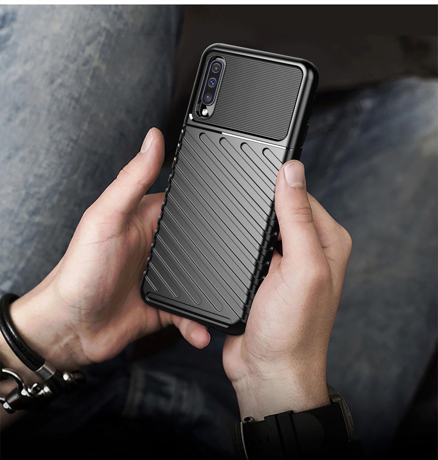 Чехол Samsung Galaxy A50 (Galaxy A30S, A50S) цвет Black (черный), серия Onyx, Caseport