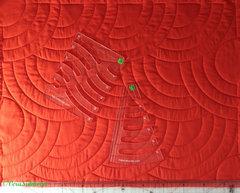Линейка ЦИРКУЛЬ-треуголка толщиной 5мм для стежки больших кругов