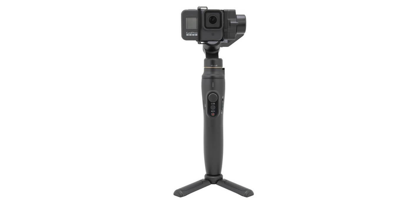 Стабилизатор трехосевой Feiyu Vimble 2A с камерой и треногой спереди