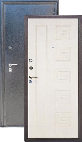 Дверь входная Z-4 стальная, млечный дуб, 2 замка, фабрика Арсенал