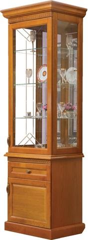 Шкаф с витриной 1 дв. Олимпия
