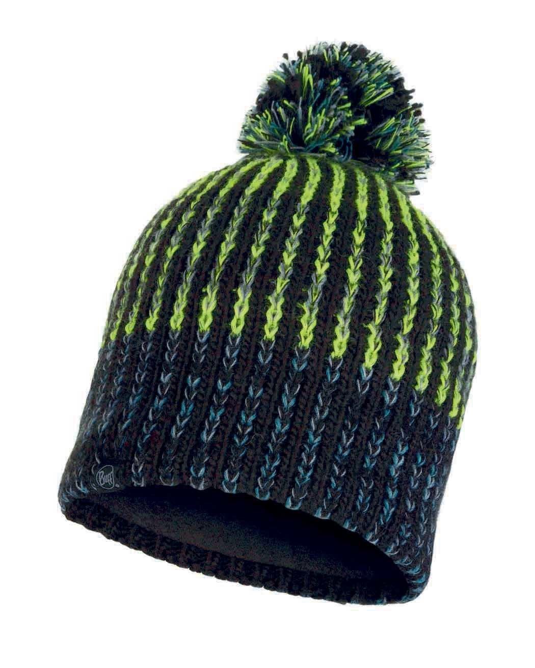 Шапки с помпоном Вязаная шапка с флисовой подкладкой Buff Hat Knitted Polar Iver Black 117900.999.10.00.jpg