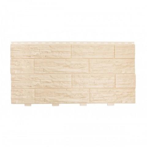 Фасадные панели (Цокольный Сайдинг) Доломит Кубанский Песчаник Ваниль