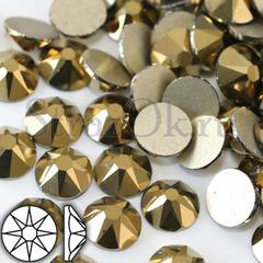 Купить золотые стразы Xirius 8+8 граней Aurum