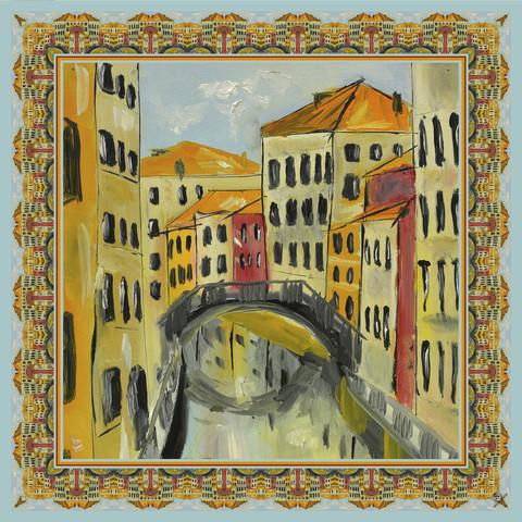 Шелковый платок Городские мотивы