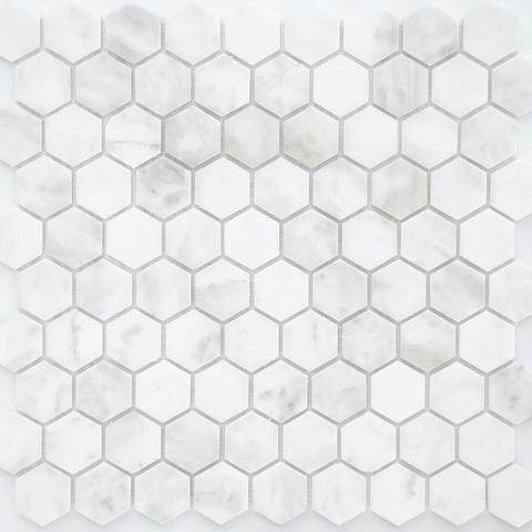 Мозаика Dolomiti bianco MAT hex 18x30x6 285х305