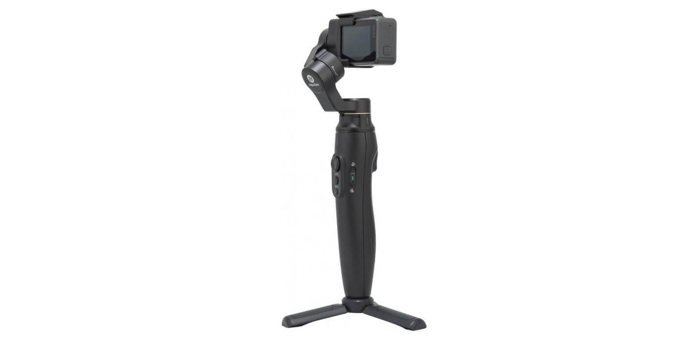 Стабилизатор трехосевой Feiyu Vimble 2A с камерой и треногой сбоку