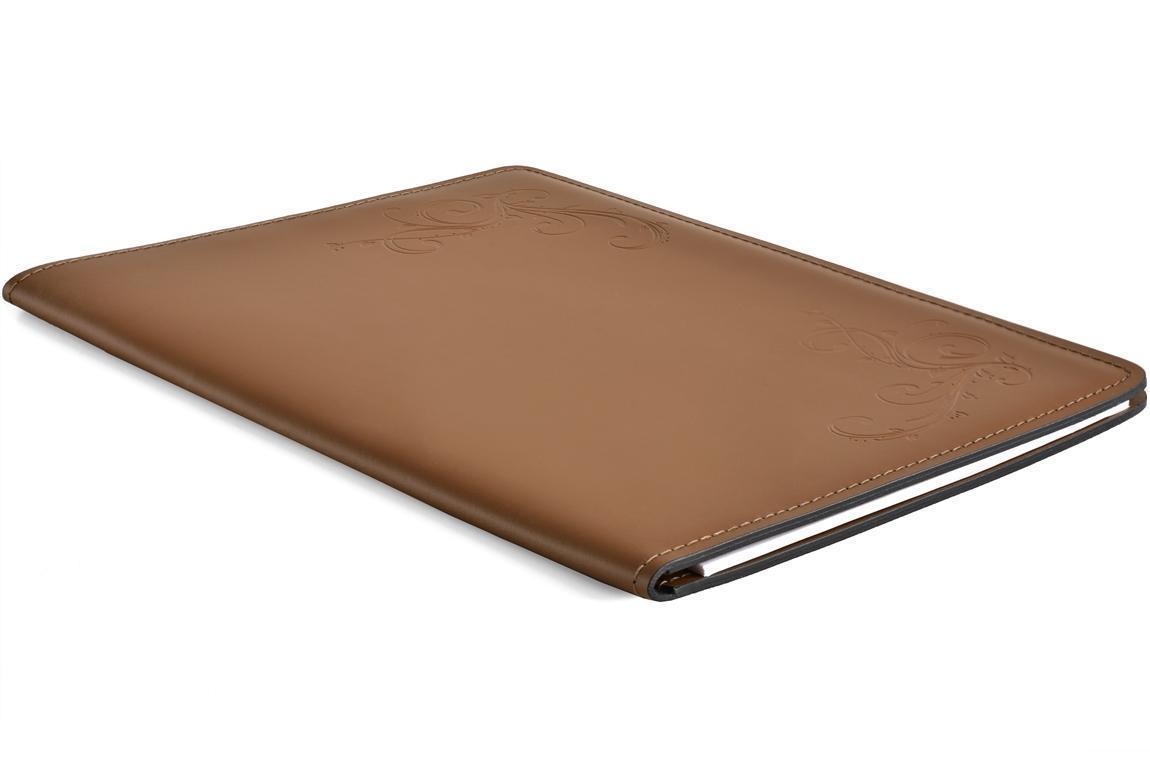 скетчбук кожаный цвет орех