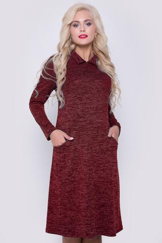 """<p><span>Комфортное платье, великолепно смотрится на любом типе фигуры. Силуэт """"трапеция"""", рукав """"реглан"""", функциональные карманы, по спинке имитация застежки на пуговицах. </span><br /><span>Длина: 44-52р - 96-98см</span></p>"""