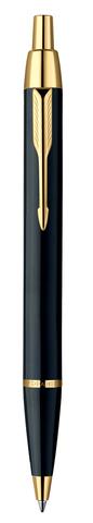 Шариковая ручка Parker IM Metal, K221, цвет: Black GT, стержень: Mblue123