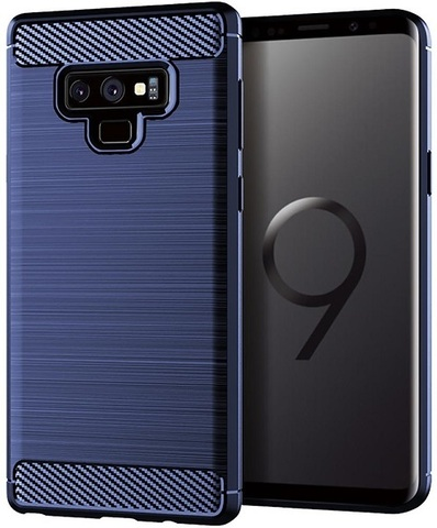 Чехол Samsung Galaxy Note 9 цвет Blue (синий), серия Carbon, Caseport