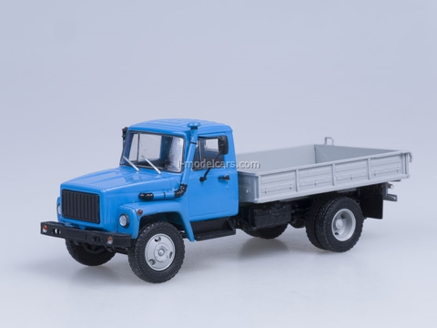GAZ-3309 engine D-245.7 Diesel Turbo blue-gray AutoHistory 1:43