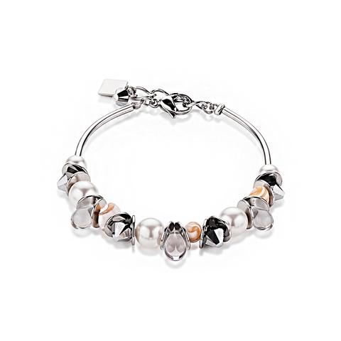 Браслет Coeur de Lion 4826/30-1700 цвет белый, серый, серебряный