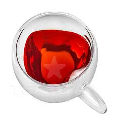 """Чашка """"Сердце"""" с двойными стенками, 250 мл стеклянная"""