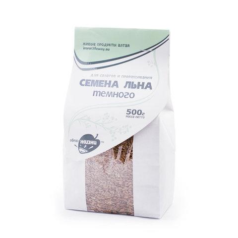 Семя льна темного очищенное для проращивания, 500 гр. (Образ жизни)