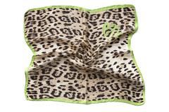 Итальянский платок из шелка леопардовый 0002