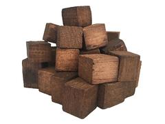 Щепа дубовая кавказская (средний обжиг) (кубическая форма) 50 грамм