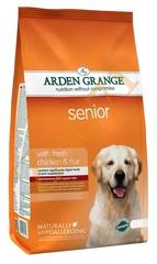 Сухой корм для собак почтенного возраста, Arden Grange Senior, с курицей и рисом