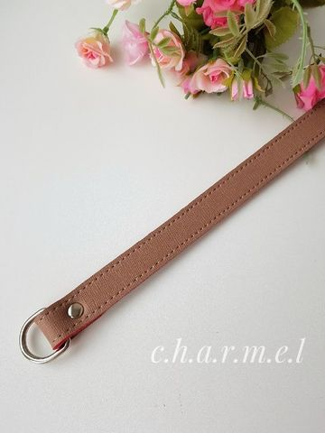 Handle 33 cm, with half-rings, color Milk chocolate