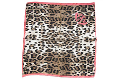 Итальянский платок из шелка леопардовый 0003