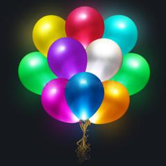 Мигающие воздушные шарики со светодиодами (5 шт)