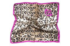 Итальянский платок из шелка леопардовый принт 0005