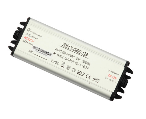 Блок питания 80Вт, 12В, IP67 для светодиодных лент и модулей