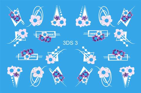 3D слайдер для ногтей со стразами, 3DS- 3