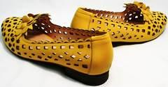 Туфли босоножки женские на низком ходу Phany 103-28 Yellow.