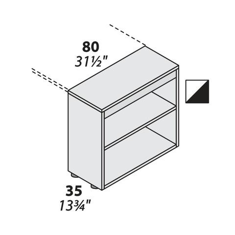 Стеллаж открытый опорный (800 мм) LOGIC