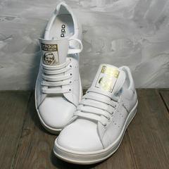 Женские кроссовки Adidas Stan Smith White-R A14w15wg